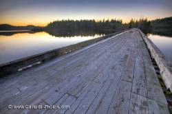 Wood Bridge Vancouver Island Sunset