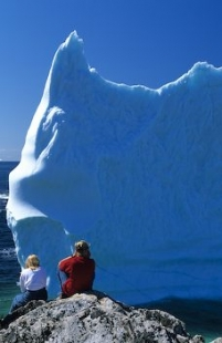 Icebergs can be found in early summer off the Newfoundland coast