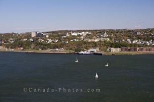 From La Citadelle in Old Quebec in Quebec City you get a beautiful view of the Vieux Port and the St Lawrence River.