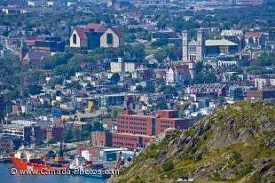 The view over the city of St John's in Newfoundland Labrador from Signal Hill National Historic Site is one of the best of the city. From the cathedral to the harbour and beyond.