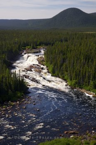 Photo: Aerial White Bear River Falls Southern Labrador