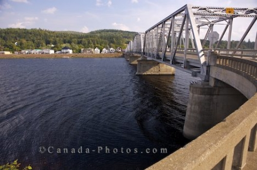 Photo: Andover Bridge Saint John River New Brunswick
