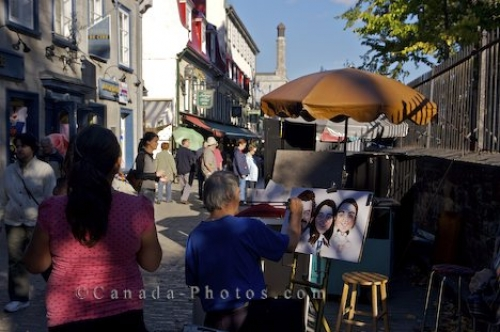 Photo: Outdoor Artists Old Quebec Lane Quebec City Canada