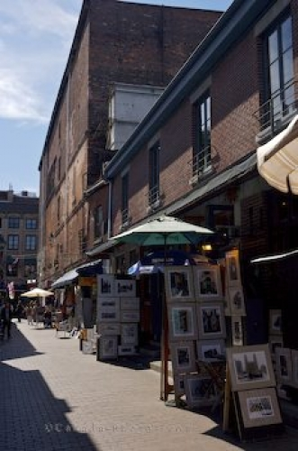 Photo: Artists Work Rue Saint Amable Old Montreal