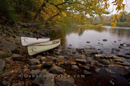 Photo: Autumn River Canoes Oxtongue River Ragged Falls Provincial Park