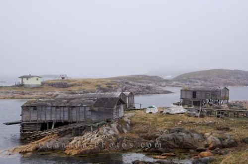 Photo: Battle Harbour Fishing Stages Southern Labrador