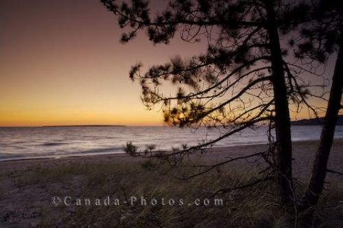 Photo: Beach Silhouette Lake Superior Ontario