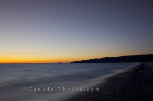 Photo: Beach Sunset Agawa Bay Lake Superior Ontario