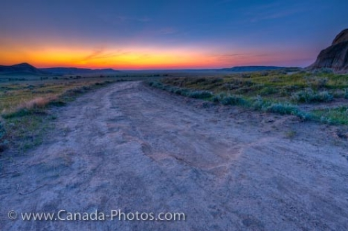 Photo: Big Muddy Badlands Farmland At Dusk Southern Saskatchewan