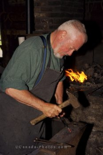 Photo: Blacksmith Shop Demonstration Sherbrooke Village