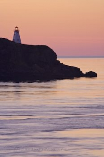 Photo: Boars Head Lighthouse Sunset Long Island Nova Scotia