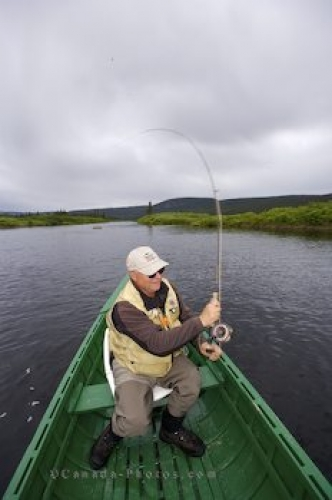 Photo: Boat Fly Fishing Eagle River Southern Labrador