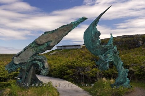 Photo: Bronze Sculpture Picture L Anse Aux Meadows Newfoundland