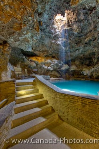 Photo: Cave And Basin National Historic Site Pool Banff Alberta