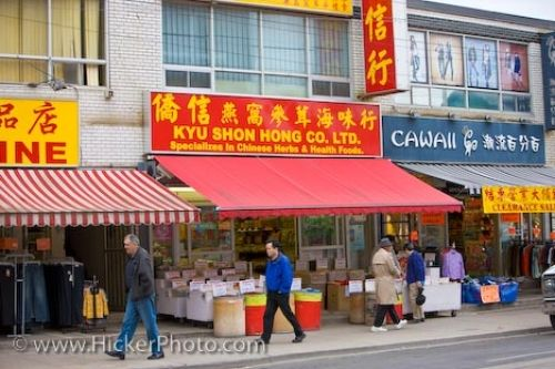 Photo: Chinatown Shops Toronto City Ontario Canada