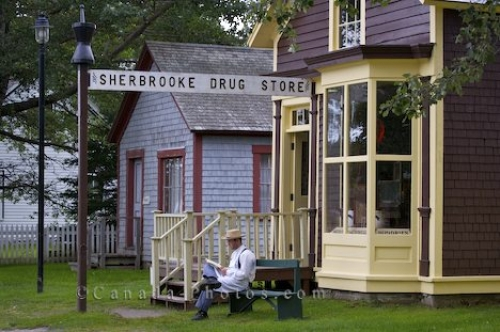 Photo: Historic Drug Store Sherbrooke Village Museum Nova Scotia