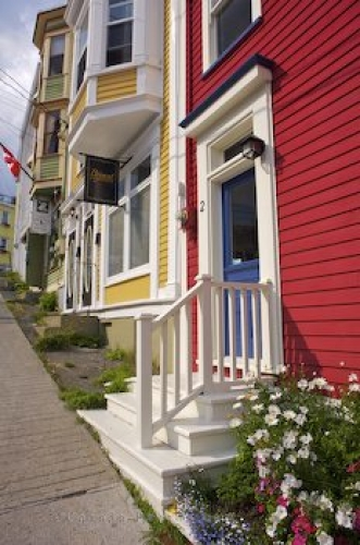 Photo: Charming houses downtown St John's (aka Jelly Bean Row) St John's Harbour St John's Bay