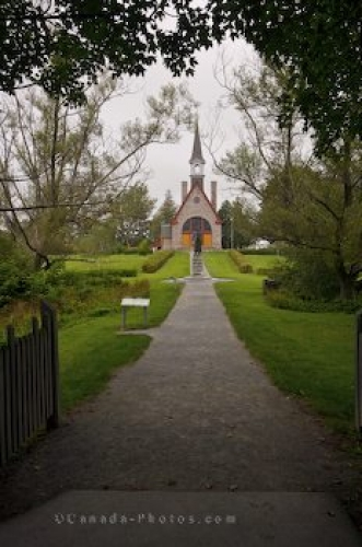 Photo: Church Path Grand Pre National Historic Site Nova Scotia
