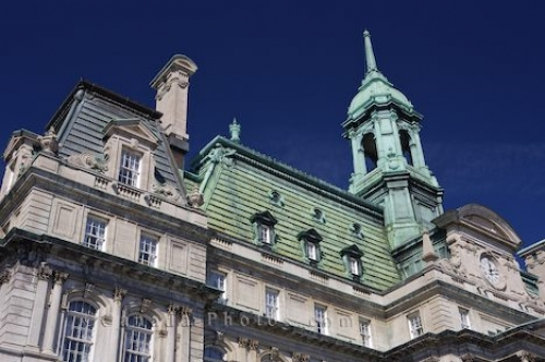 Photo: Montreal City Hall Facade Hotel De Ville
