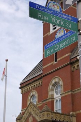Photo: City Hall Street Signs Fredericton New Brunswick