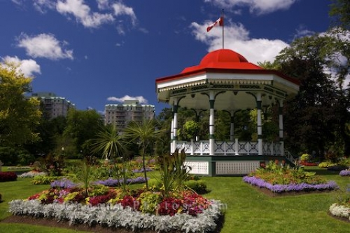 Colorful Halifax Public Gardens Nova Scotia Photo Travel Idea