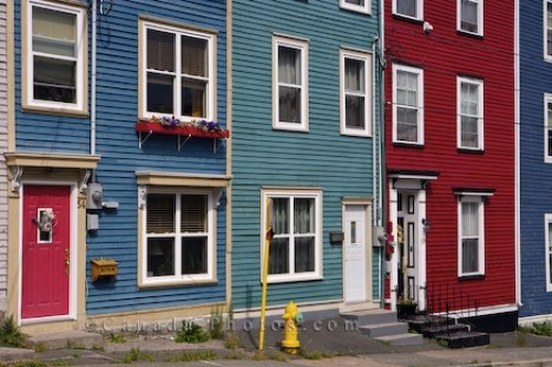 Photo: Colorful Homes Jelly Bean Row St Johns Newfoundland