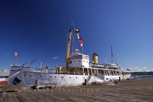 Photo: CSS Acadia Ship Halifax Waterfront Nova Scotia Canada