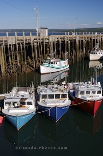 Photo: Digby Wharf Fishing Boats Evangeline Trail Nova Scotia