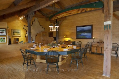 Photo: Dining Room Table Labrador Fishing Lodge