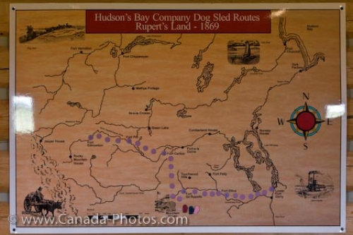 Photo: Dog Sled Routes Hudsons Bay Company Saskatchewan Canada
