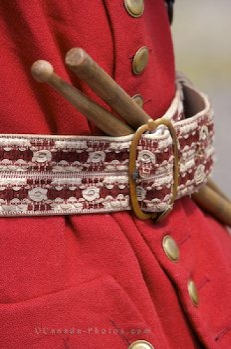 Photo: Drum Sticks Military Uniform Louisbourg