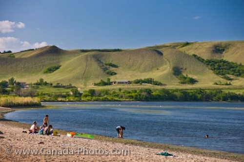 Photo: Holidaymakers At Echo Lake Saskatchewan