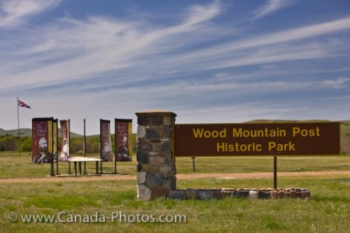 Photo: Entrance Signs Wood Mountain Post Historic Park Saskatchewan