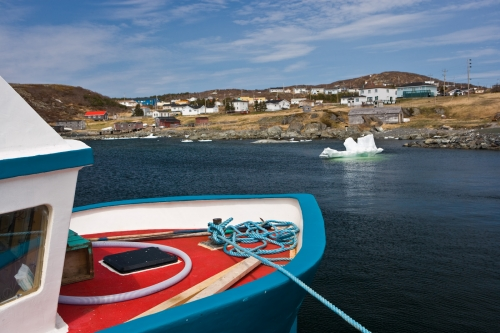 Photo: Fishing boat St Lunaire Griquet Harbour Newfoundland