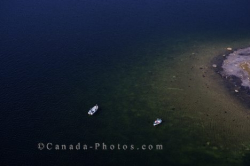 Photo: Fishing Boats Aerial Southern Labrador