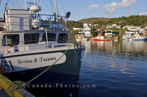 Photo: Fishing Boats Fleur De Lys Harbour Dorset Trail Newfoundland