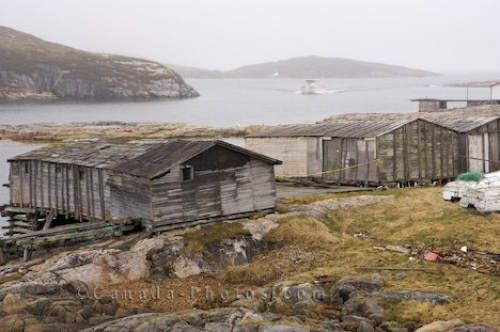 Photo: Fishing Shacks Battle Harbour Labrador