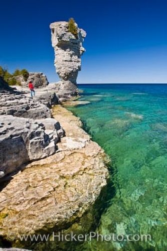 Photo: Flowerpot Island Rock Formations Lake Huron Ontario
