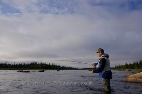 Photo: Fly Fisherman Salmon River Main Brook Newfoundland