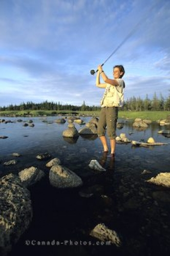 Photo: Woman Fly Fishing