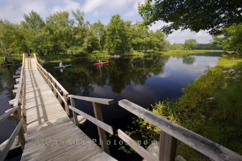 Photo: Footbridge Mersey River Kejimkujik Nova Scotia