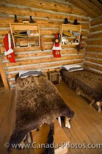 Photo: Fort Walsh Sleeping Areas Saskatchewan Canada