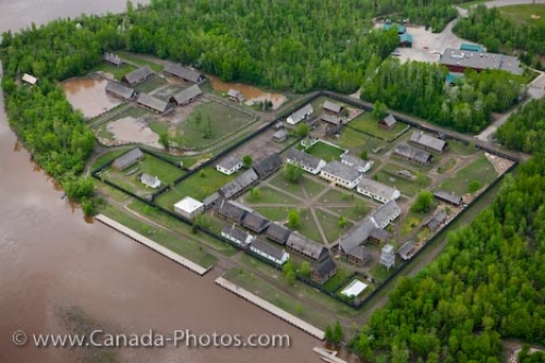 Photo: Aerial Fort William Historical Park Thunder Bay