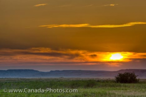 Photo: Frenchman River Valley Sunset Grasslands National Park Saskatchewan