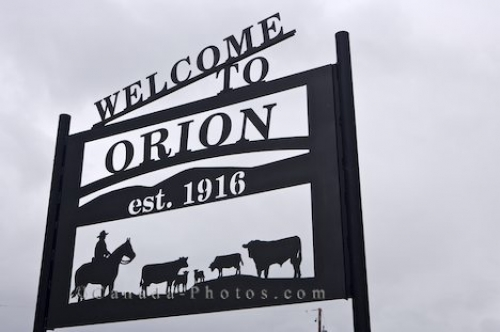 Photo: Ghost Town Sign Orion Alberta