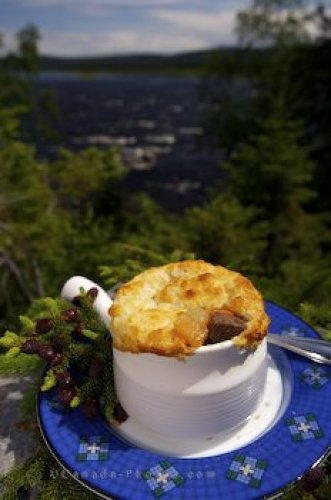 Photo: Gourmet Caribou Stew Rifflin Hitch Lodge Labrador