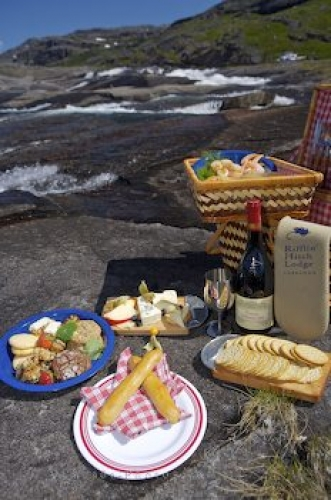 Photo: Gourmet Picnic Lunch Mealy Mountains Labrador