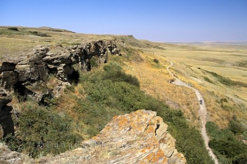 Photo: Head Smashed Buffalo Jump Alberta photo