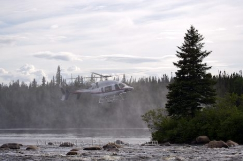 Photo: Helicopter White Bear River Falls Southern Labrador