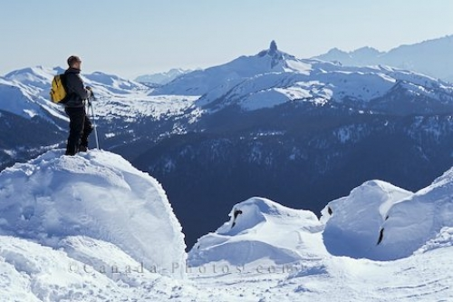 Photo: Photo Of A Hiker At Whistler Mountain